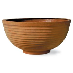 Thames Bowl Planter Fibreglass in Terracotta Finish from potstore.co.uk